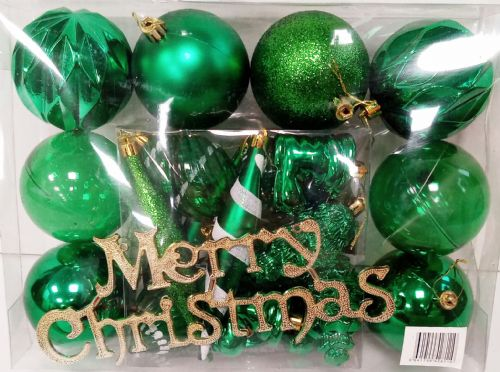 Multi Bauble Green